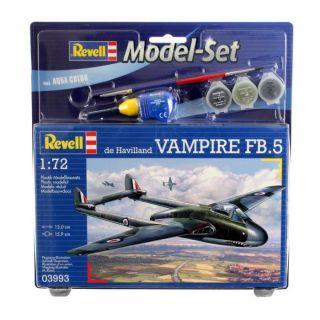 Revell   Model Set De Havilland Vampire   Echelle 172   Maquette sous