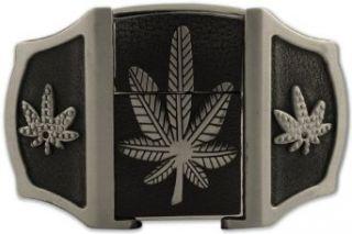 in 1 Pot Leaf Flip Top Lighter Belt Buckle #58 #95 #105 Clothing