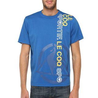 Modèle Sternum. Coloris  bleu royal, blanc et jaune. T shirt LE COQ