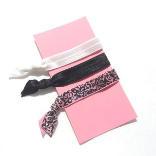 Bow Clippeez 2 Envy Boutique 3 Piece Ponytail HairTies