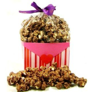 Valentines Day Chocolate Covered Popcorn Heart Gift