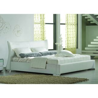 California King White Platform Bed