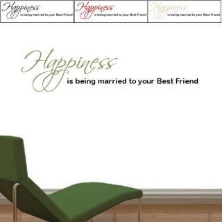 Happiess is Vinyl Two Color Wall Graphic Decal Today $36.49