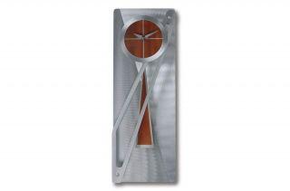 Jon Gilmore Designs Modern Times Silver/ Rust Pendulum Clock