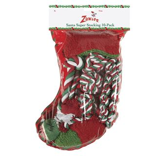 Zanies Santas Super Dog Toy Stocking