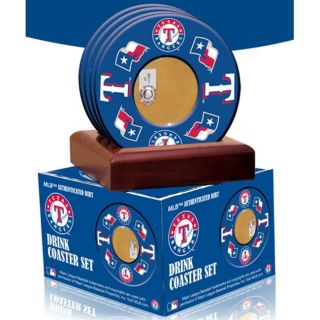 Steiner Sports Texas Rangers Coasters w/ Game Field Dirt (Set of 4