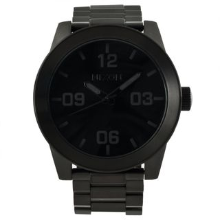 Nixon Mens Corporal SS Black Stainless Steel Analog Watch