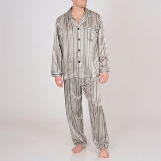 Majestic Sterling Mens Printed Silk Pajama Set