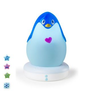 Modèle Lumilove Pingouin   Coloris  Bleu   Veilleuse musicale