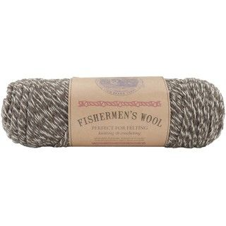 Lion Brand Fishermens 8 oz Maple Tweed Virgin Wool Yarn