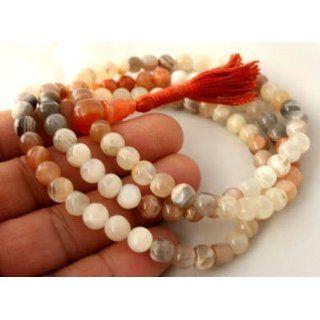 ~ Tibetan MOON STONE 108 Beads MEDITATION Mala