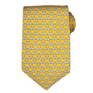 Versace Mens Sea Lion Pattern Silk Tie
