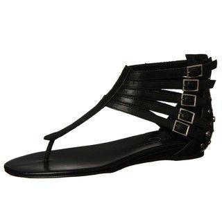 Jessica Simpson Womens Danson Black T strap Sandals