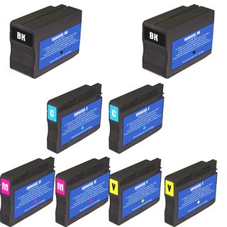 HP 932XL 933XL Black Colors Ink Cartridge Pack of 8 (Remanufactured