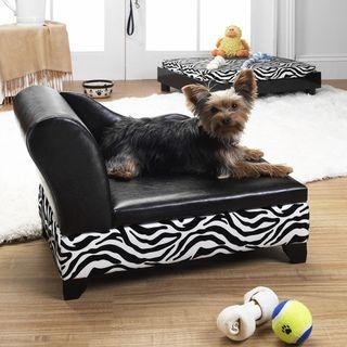 Enchanted Home Pet Zebra Storage Bed