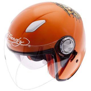 ED HARDY Casque Jet Tiger   Couleur  Orange   Composition  Fibre de