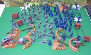 112 Civil War Piece Figures Set, Cannons, Siege Mortars