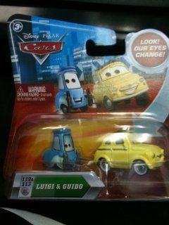 MOVIE CARS LUIGI AND GUIDO WITH MOVING EYES #112 & 113 Toys & Games