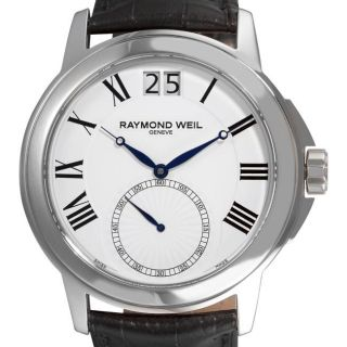 Raymond Weil Mens Tradition Black Strap Big Date Watch