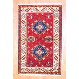 Indo Kazak Hand knotted Red/ Ivory Rug (3 x 5) Today $99.99 3.7 (3