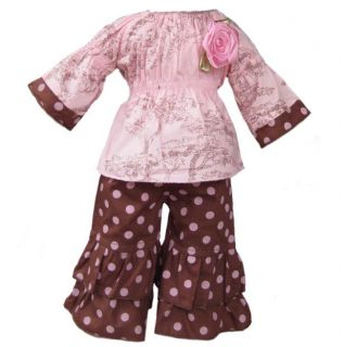 Ann Loren Toile and Polka Dots American Girl Doll Outfit