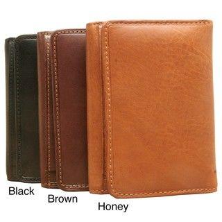 Tony Perotti Brown Prima Tri fold Wallet