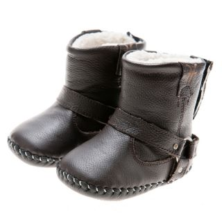 Little Blue Lamb Handmade Brown Natural Leather Walking Boots Today $