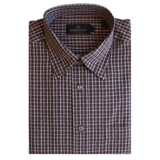 Bugatchi Uomo Mens Long sleeve Plaid Button front Shirt