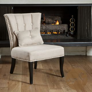 Christopher Knight Home Franco Beige Fabric Accent Chair
