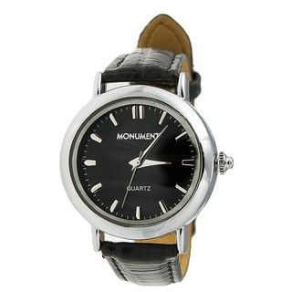 Monument Womens Leatherette Strap Analog Watch