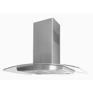 Range Hood Stainless Steel Black Glass 48 KA 113 CS BLG Made in Italy