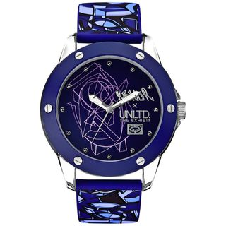 Marc Ecko Womens Purple Silicone Watch