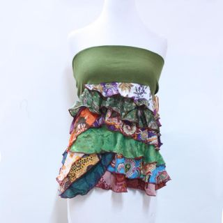 Womens Cotton and Silk Convertible Tube Top/ Mini Skirt (Nepal