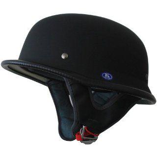 German Motorcycle Half Helmet(115) Matt Black XS