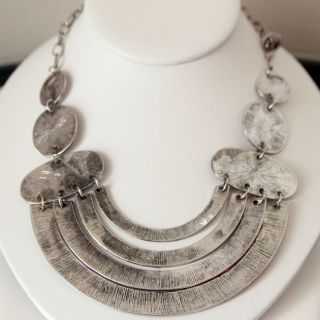 Pearls Plus Concentric Circle Fashion Necklace