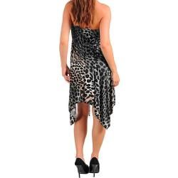Stanzino Womens Black Brown Leopard Dress