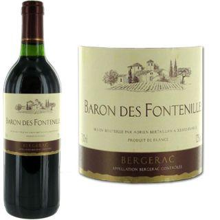 des Fontenilles   AOC Bergerac   Vin rouge   Vendu à lunité   75 cl