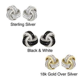 DB Designs Diamond Accent Love Knot Earrings