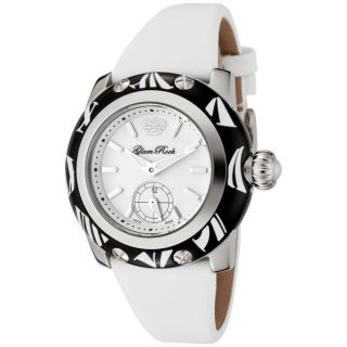 Glam Rock Womens Palm Beach White Techno Silk S Watch