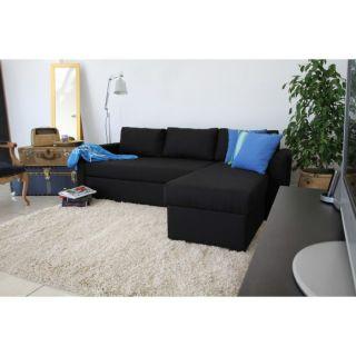 Coloris noir   4 places   Revêtement toile   Pour couchage 195 x 143
