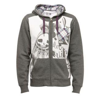 Coloris  gris. Sweat QUIKSILVER Homme, 60 % coton, 40 % polyester, à
