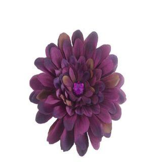 Bow Clippeez 2 Envy Dark Purple Flower Clip