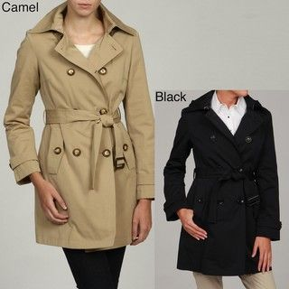 MICHAEL Michael Kors Womens Double Breasted Trench Coat