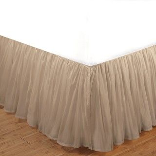 Linen Cotton Voile 15 inch Queen size Bedskirt