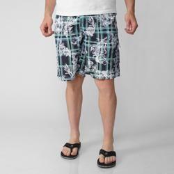 Island Joe Mens Navy Floral Print Swim Shorts