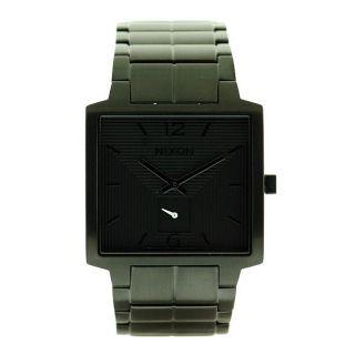 Nixon Mens District Black Stainless Steel Black Dial Watch