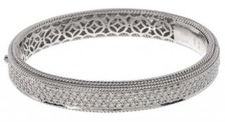 Damiani 18 kt. White Gold 5.64 ct. Diamond Bangle Bracelet