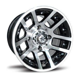Fairway Alloys FA121 Illusion Machined Black Golf Car Wheel   10x7