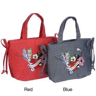 Ed Hardy Girls Flower Power Tote Handbag