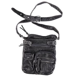 Journee Collection Womens Faux Leather Multi Pocket Cross body Bag